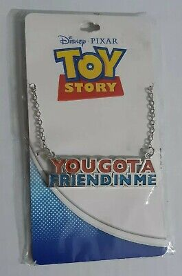 Disney Pixar Toy Story You Got A Friend In Me Necklace New