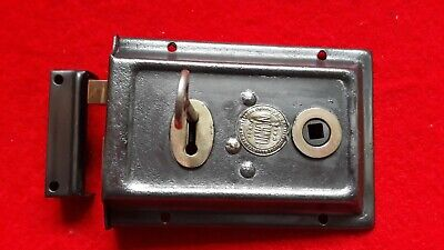 Vintage antique Union Surface Mounted Rim Door Lock & latch right & left hand.