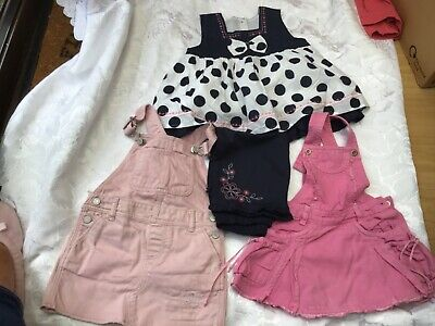 Immaculate Bundle Girls Clothes (4 Items) Pinafore Dresses/Outfit Gap Age 2/3 Yr