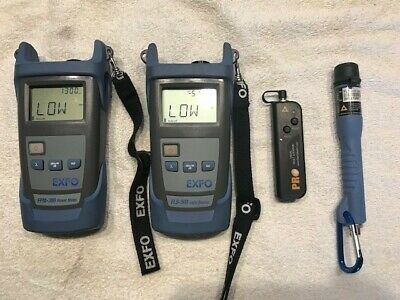 Exfo FPM-300 and FLS-300 power meters, Two Visual fault locators,
