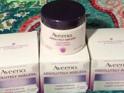 4 AVEENO Active Absolutely Ageless Restorative Night Cream Blackberry 1.7 oz