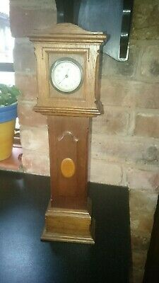Antique Miniature Long Case Grandfather Clock Working - serviced
