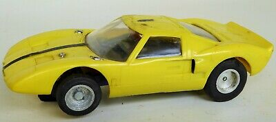 """Vintage Ford Mustang With Driver Slot Car Toy Unbranded Working 5"""" Long"""