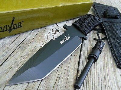 "7"" TACTICAL COMBAT SURVIVOR BOOT TANTO HUNTING KNIFE Bowie Military Fixed Blade"