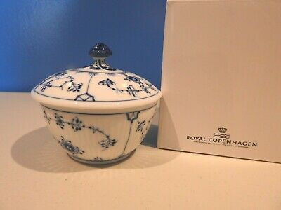 Royal Copenhagen BLUE FLUTED Plain Sugar Bowl with Lid