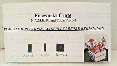 Dollhouse Miniatures 1:12 Scale Fireworks Crate Round Table Fr Name