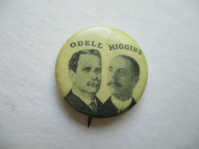 New York Governor Local Pin Back Political Campaign Button Odell Higgins Badge