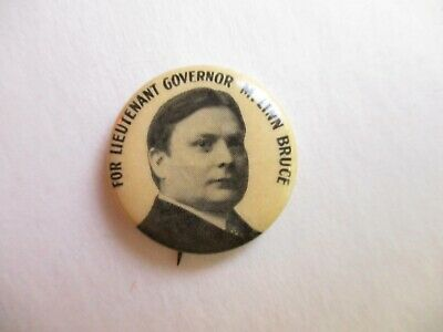 New York Local Lt. Governor Pin Back Campaign Button M. Linn Bruce Lieutenant