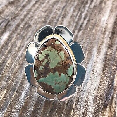 Navajo Royston Turquoise & Sterling Ring Size 5.5