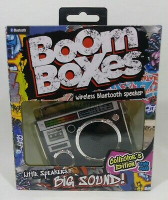 Bluetooth Boom Boxes Collectors Edition Wireless Bluetooth Speaker Black New