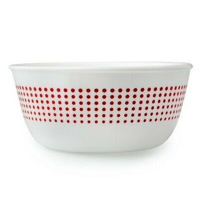 Corelle Dots Red 28oz Bowl. Brand New