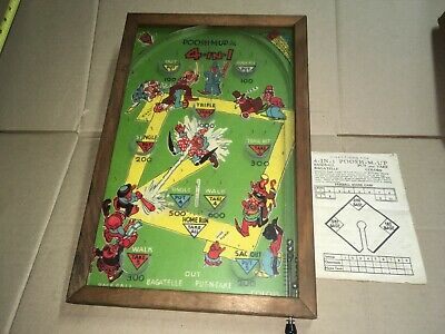 @ Vintage Poosh-M-Up Jr. Pin-Ball Game Baseball @