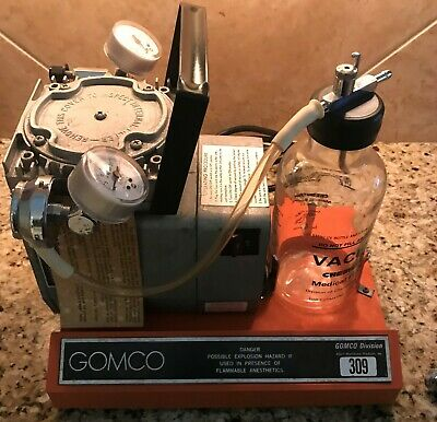 Gomco 309 ENT/Dental Medical Tabletop Vacuum & Pressure Aspirator/Suction Pump!
