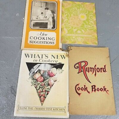 Lot of Vtg Cookbooks and Booklets 1920s 1930s Recipes Advertising mirro rumford