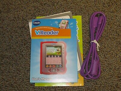 Vtech Purple V.Reader USB Cable and Instructions