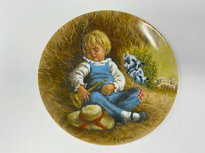 Reco Little Boy Blue Vintage Decorative Collector's Plate With Original Box
