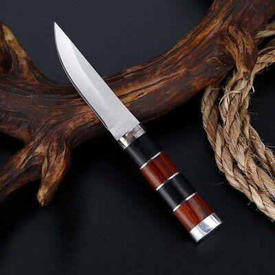 """US 6"""" Fixed Blade Straight Tactical Military Pocket Hunting Knife With Sheath"""