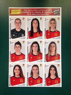 Panini World Cup Womens 2019 -- Extra Set -- Spain Update (9 Stickers Sheet)