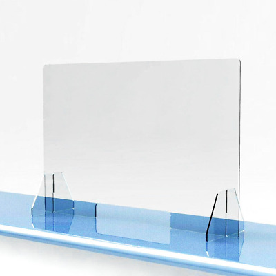 SNEEZE GUARD Acrylic Plexiglass Table Desk Checkout counter CASHIER Shield
