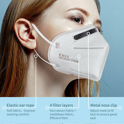 5PCS KN95 Mask Face Mask Protective Respirator, Disposable Masks, Pack of 5
