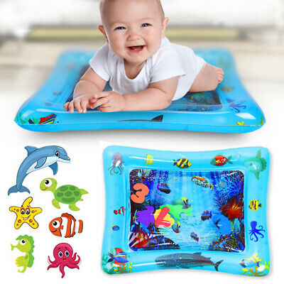 Inflatable Baby Water Mat Novelty Play for Kids Children Infant Tummy Time 60x51