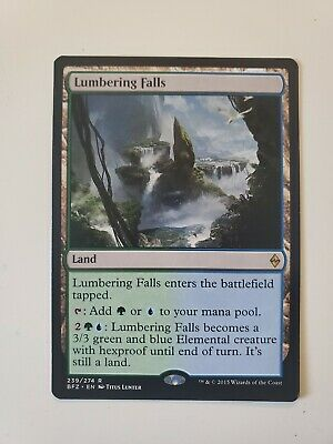Lumbering Falls × 4 NM LP Battle for Zendikar mtg