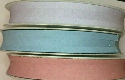 Quality Cotton Bias Binding Tape - 25mm x 5 metres ~ Choice of Colours