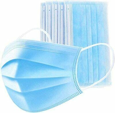 50 PCs Face Mask Medical Surgical Disposable 3- Ply Earloop Mouth Cover