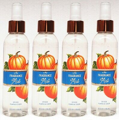 4 Bath & Body Works SPICED PUMPKIN CIDER Fine Fragrance Mist Spray 6 Oz