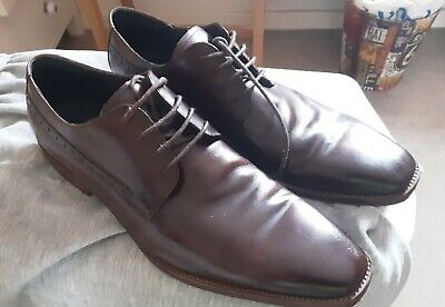 Base London Mens Butler Brown Leather Brogues Lace Up Shoes Size 8-11