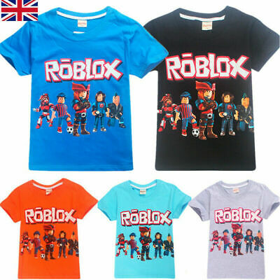 Hot Roblox Kids Boys Girls Short Sleeve T Shirts Cotton Tops T