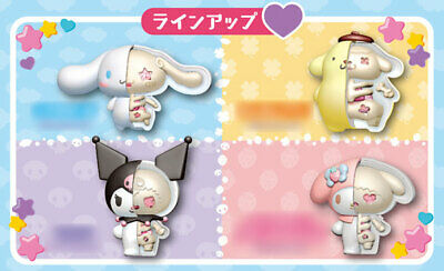 MegaHouse Sanrio Kaitai Fantasy Hello Kitty My Melody Anatomy 4 Figure Set Case