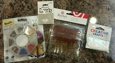 Crafts Joblot Dried Flowers Bostik Sequins accent beads