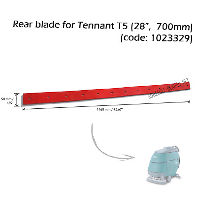 "Rear squeegee blade for TENNANT T5 (28""/ 700 mm) - HUGE QUANTITY DISCOUNT"