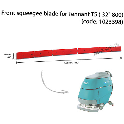 "Front squeegee blade for TENNANT T5 (32""/ 800mm) - HUGE QUANTITY DISCOUNT"