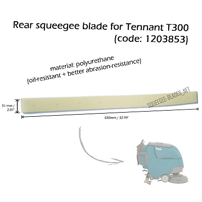 Rear squeegee blade for TENNANT T300 - HUGE QUANTITY DISCOUNT
