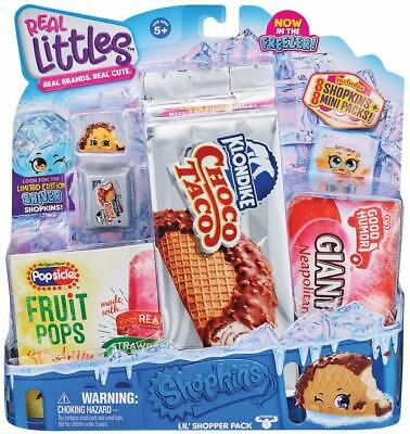 Shopkins Real Littles Shopper Pack Icy Treats Scribblers Lolly Brand New