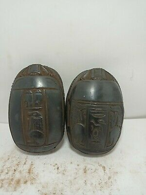 RARE ANTIQUE ANCIENT EGYPTIAN Statue Scarab God Sobek 2 God Falcon Bird 1530 Bc