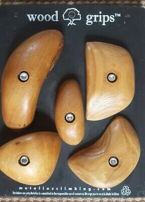 plus 2 pinches-hand made 10,15 and 20 mm wooden climbing holds set of 6 crimps