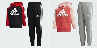 Adidas Kids Girls Boys French Terry Hooded Full Tracksuit