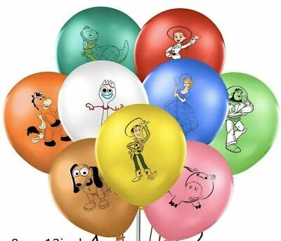 9pcs Toy Story 4 Balloons For Sticker Loot Bag Supplies Birthday Party