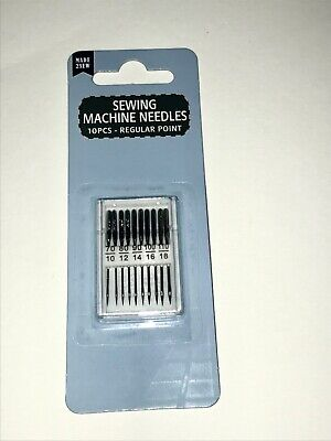 10x Piece Regular Point Domestic Home Sewing Machine Needles Brother Singer Pack