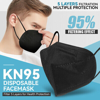 [10 Pieces] Disposable KN95 Face Mask Protective >95% Filter Cover PM2.5 FFP2