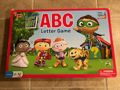 Pbs Super Why Abc Letter Game University Games Complete 10 48 Picclick