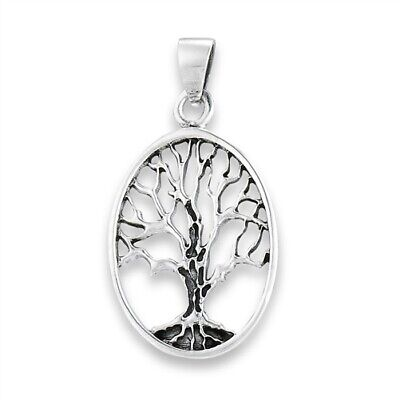 .925 Solid Sterling Silver Ancient Tree Of Life Pendant