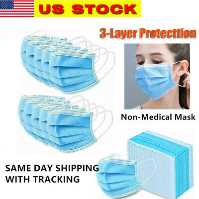 50Pcs/Pack Face Mask with retail box Sent out soon NEW  USA Seller