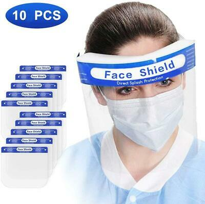 1 5 10 PCS Safety Full Face Shield Reusable Washable Protection Cover Face Mask