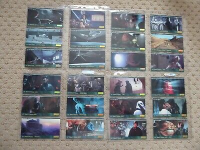 Star Wars Return Of The Jedi Topps Widevision Trading Card Set 1995 144 Cards