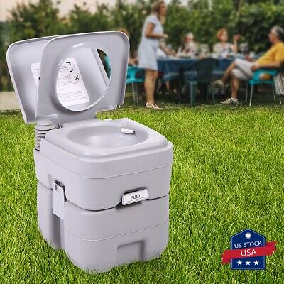 Portable Toilet 5 Gallon 20L Flush porta-potty Outdoor Indoor Travel Camping