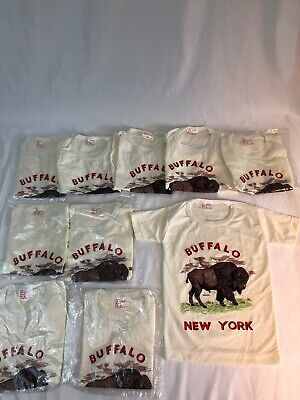 Lot (10) Vintage Buffalo New York Shirts Deadstock Size 6 and 8